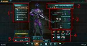 Planetside2 キャラクター画面