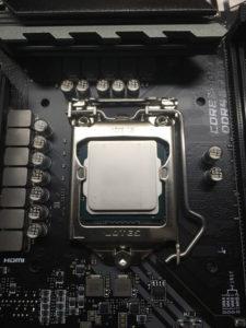 CPU取り付け(2)